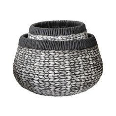 Washed Black Denim Hyacinth Baskets design by Lazy Susan
