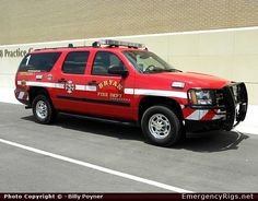 Chevrolet Suburban Command Bryan Fire Department  Emergency Apparatus Fire Truck Photo