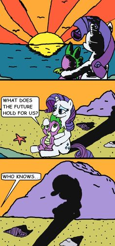 Another Sparity comic made by StefGhost and colored in by me: I'll admit I did a good job at this. Spike And Rarity's Future Rarity And Spike, Nick And Judy Comic, My Little Pony Rarity, Mlp Comics, Mlp Pony, Equestria Girls, Miraculous Ladybug, Overwatch, Girlfriends