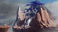 ArtStation - Castle with super tree, Sviatoslav Gerasimchuk