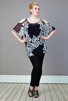 Georgette Cutout Top -  anna scholz Plus Size