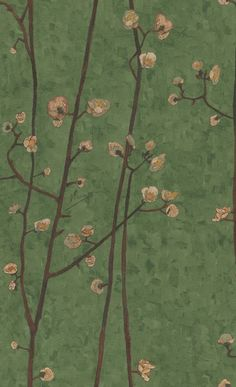 van Gogh vliesbehang 220024 van behangwebshop.nl Van Gogh Wallpaper, Flowery Wallpaper, Wallpaper Stores, Room Wallpaper, Pattern Wallpaper, Asian Wallpaper, How To Start Painting, Vincent Willem Van Gogh, Victorian Wallpaper