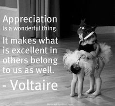 Appreciation... Sweet little ballerinas.   Hopefully they will compete on stage and their dreams will come true. It will if they continue in this manner.