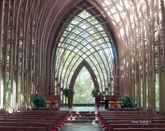 Another Glass Church in Arkansas. This one is Mildred B. Cooper Memorial Chapel in Bella Vista, Arkansas
