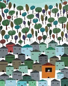 Happy Monday! Starting off the week with a lovely illustration by @rogerycaza 🌲🌲#rogerycaza #illustration