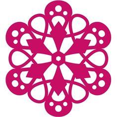 Silhouette Design Store - View Design #10709: flower rosette lace