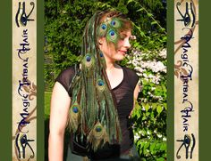 Peacock Feather extensions Forest ELF DREAD by MagicTribalHair, €45.00