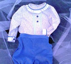 conjunto niño pantalon y camisa , pantalon azul camisa estampada bebe , blusa niño con pantalon , conjunto de bebe , conjunto niño invierno by pitufos on Etsy