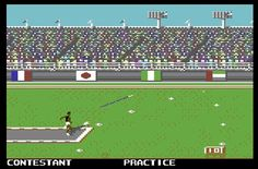 commodore 64 olympic games. When my friends were getting Nintendos, I was playing Summer Games on this lil beast