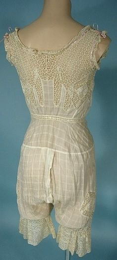 Antique Dress - Late 1800's Lacy Split Camibloomers!
