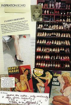 Dita Von Teese's shoe closet