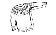 How to measure for knitted sweater (tincanknits)