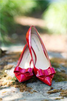 adorable red heels by audrey brooke #rubyslippers #themedwedding #wizardofoz http://www.weddingchicks.com/2014/01/09/wizard-of-oz-wedding-ideas/