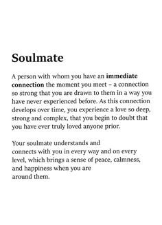 Deep Feeling Soulmate Real Love Quotes - True love is finding your soulmate in your best friend faye hall 199 quotes have been tagged as deep love. Soulmate And Love Quotes God Brought Us . Now Quotes, Go For It Quotes, Be Yourself Quotes, Words Quotes, Quotes To Live By, Sayings, One Day Quotes, Not Meant To Be Quotes, Dating Quotes Just Started