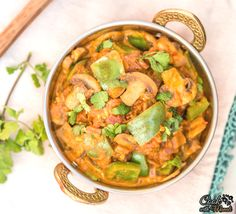 Kadai Mushroom is a flavorful Indian dish where Mushroom & Bell Pepper are cooked in a spicy onion tomato curry. Find the recipe on www.cookwithmanali.com