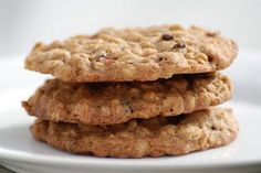 Oatmeal, dried cranberry & crystallized ginger cookies