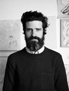 "annarose: "" Devendra in his studio in downtown LA, outtake for Interview Magazine Germany ©Anna Rose "" Hairy Men, Bearded Men, Beard Boy, Portrait Pictures, Portraits, Perfect Beard, Renaissance Men, Man Bun, Reasons To Smile"