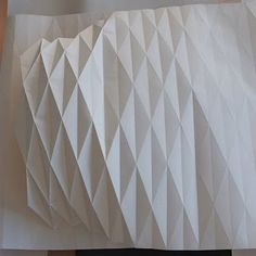 Paper folding for a lamp! How cool!