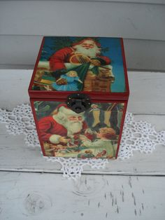 CIJ SALE Vintage St. Nicholas Circa 1909 Music Box Limited Edition 1980s by boxerlovinglady, $85.00