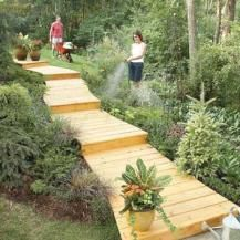 how to build backyard with treated pine
