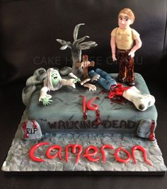 #16th Birthday Cake - #Walking #Dead Cake