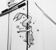 Pole mermaid #polefitness #mermaid #poledance #art #polemermaids #poleart