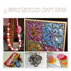 5 Simple Recycled Craft Ideas