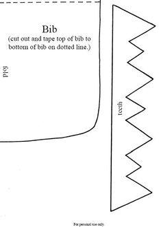 Plantilla o Molde para babero de fieltro, tela o plástico
