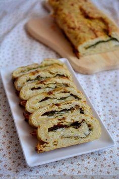 Krumplitekercs sajttal és spenóttal