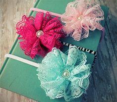 Vintage Lace Flower Headband