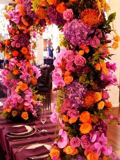 Lush, full, and colorful #chuppah by Michael Daigian Design #weddings