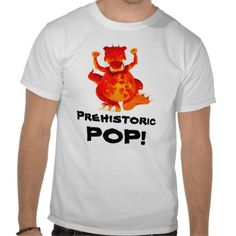 For Papa! Prehistoric Pop T-Shirt by Paul Stickland for DinosaurStore #fathersday #dinosaurs