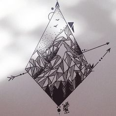 Geometric mountain shape design