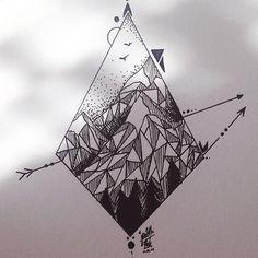 Geometric mountain shape design
