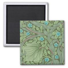 Wallpaper Pattern Sample with Forget-Me-Nots Magnet - vintage gifts retro ideas cyo