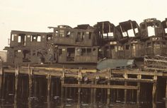 Pier with old subway cars, South Brooklyn, 1970 - New York During the 1970s  Best of Web Shrine
