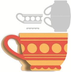 3 piece tea cup card------------------I think I'm in love with this shape from the Silhouette Online Store!