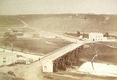Fyannsford (near Geelong) Original Bridge over the Moorabool River in Victoria in 1860. 🌹
