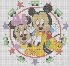 Mickey Mouse perler pattern by Pia Petrea