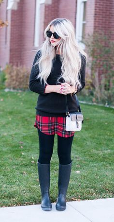 plaid shirt dress! Gotta lover her blog! Caraloren!   Susana