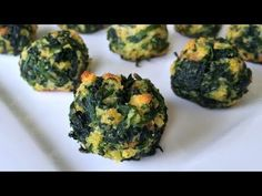 This Spinach Balls Recipe is quick and easy and they are beyond delicious. Easy Appetizer Recipes, Healthy Appetizers, Easy Snacks, Appetizers For Party, Healthy Snacks, Easy Meals, Delicious Appetizers, Easy Recipes, Super Bowl Party