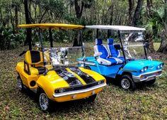 Custom Golf Cart Bodies, Custom Golf Carts, Electric Car Concept, Electric Scooter, Hummer Golf Cart, Golf Cart Body Kits, Old Bronco, Go Kart Frame, Golf Carts For Sale