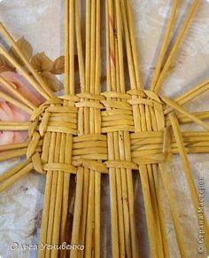Поделка изделие Плетение Корзинка в ванную Трубочки бумажные фото 2