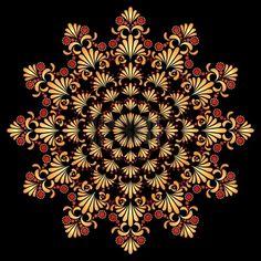 HOHLOMA-russian art. Symbol sun0