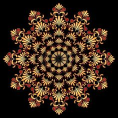 Vector ornament in style of Russian folk art hohloma Mandala Pattern, Zentangle Patterns, Pattern Art, Good Day Sunshine, Russian Folk Art, Romantic Images, Circle Art, Quilting Designs, Painting Inspiration