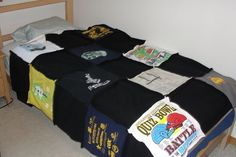 Picture of How to make a quilt out of old T-shirts