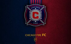 Download wallpapers Chicago Fire FC, 4k, American soccer club, MLS, leather texture, logo, emblem, Major League Soccer, Chicago, Illinois, USA, football, MLS logo
