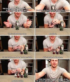 Stephen Amell <3 it looks like he's crying in the last pic