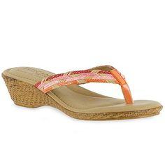 195135667 Easy Street Prato Women s Thong Wedge Sandals Kohls