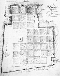 archiveofaffinities:    Cemetery Sainte-Marguerite, Plan, Paris, France, 1763